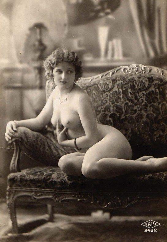 white and Vintage erotica black