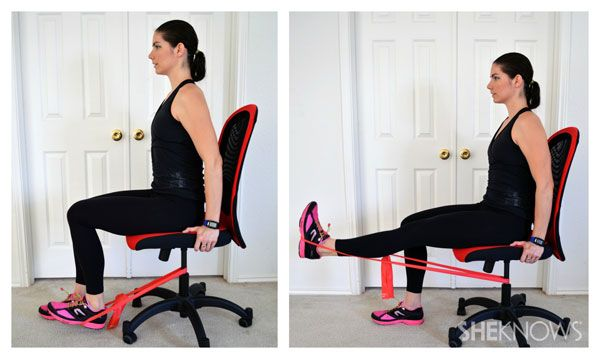 Slim And Svelte At Work Leg Workout Band Workout Thigh Exercises