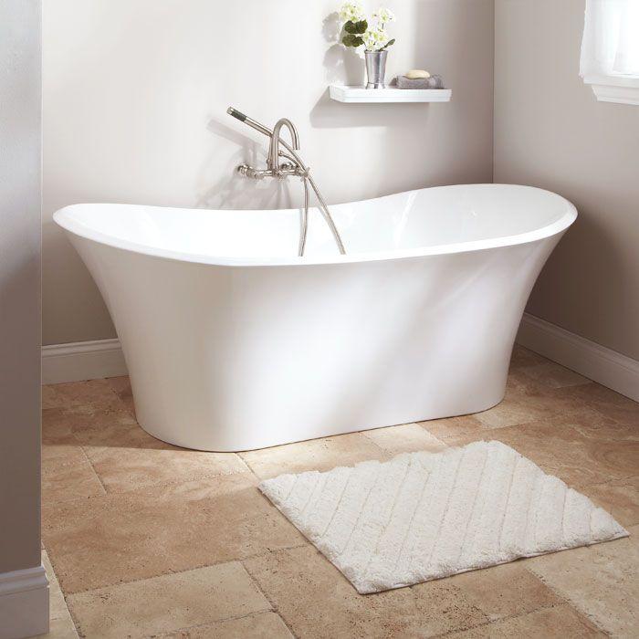 71 gaston acrylic freestanding tub english shelves and for Slipper tub bathroom design