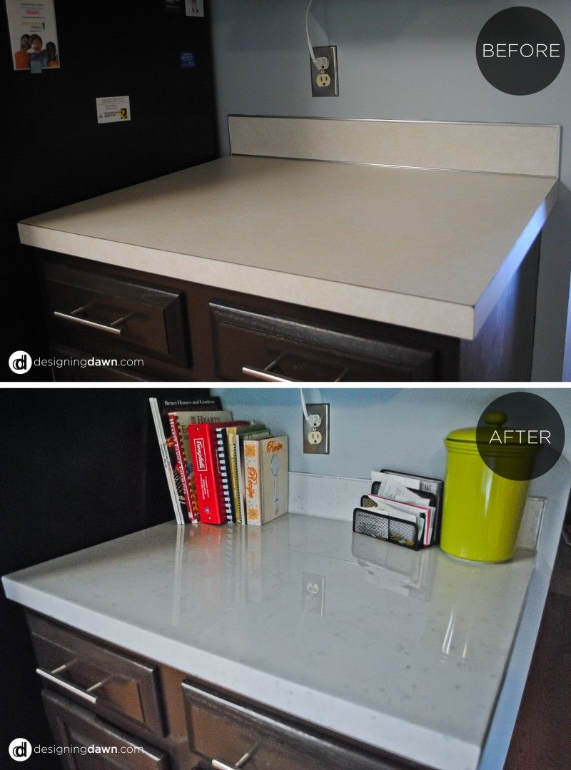 Diy Glossy Painted Counters Painting Kitchen Countertops