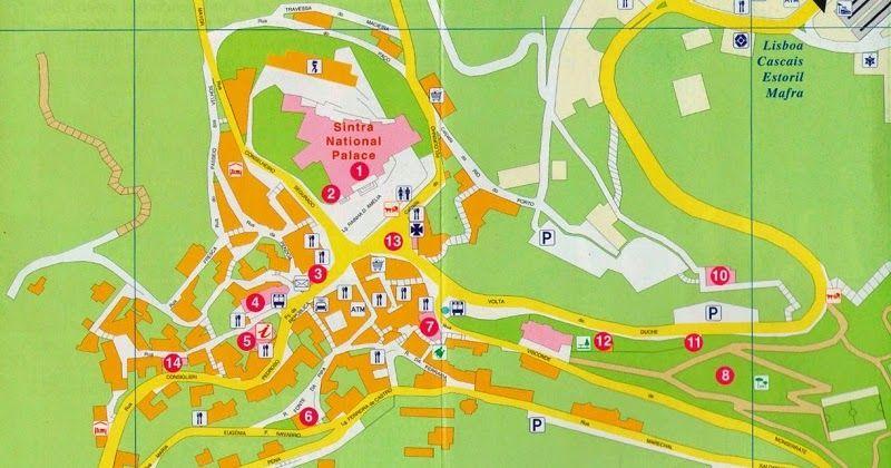 mapa sintra Mapa turístico de Sintra #viagem #lisboa #portugal | Dicas de  mapa sintra