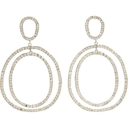Womens Again Double-Hoop Earrings Ileana Makri A3rLhD8