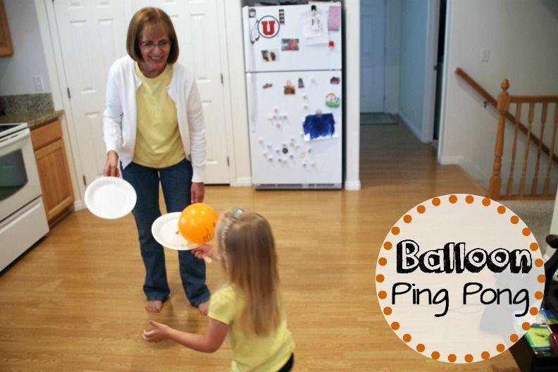 Balloon Ping Pong Grandma Ideas Indoor activities for