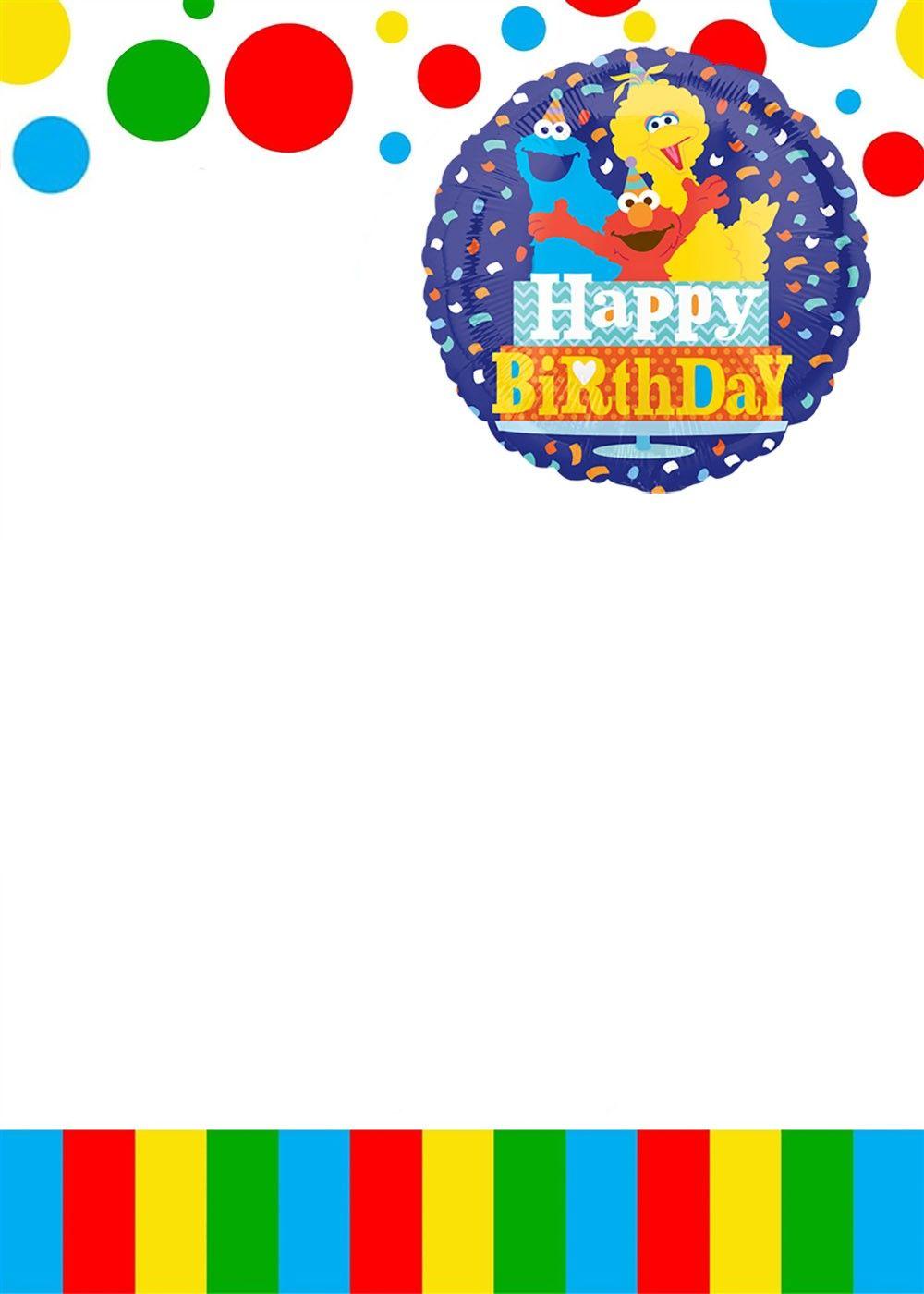 Free printable sesame street birthday invitation coolest free printable sesame street birthday invitation filmwisefo