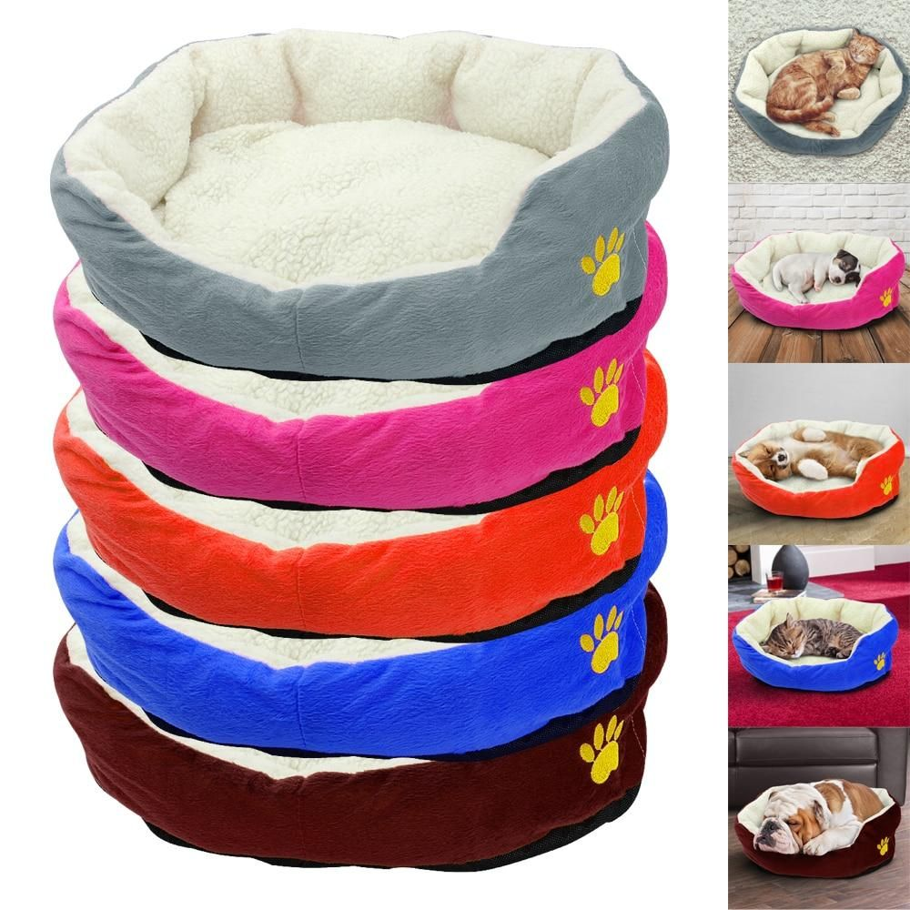 Warm Cat Bed Winter Kitten House Kennel Soft Cotton Pet
