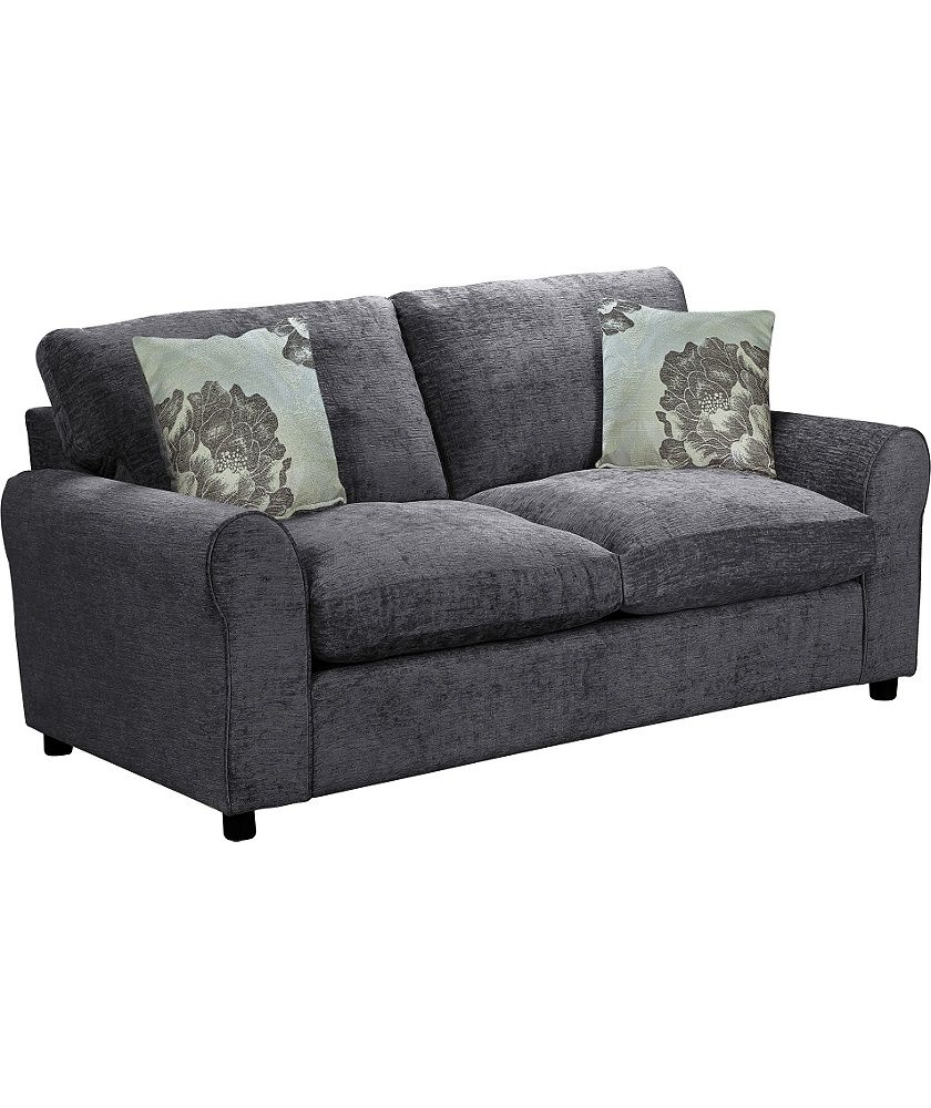 Buy tessa fabric sofa bed charcoal at your online shop for sofa beds chairbeds - Factory sofas sevilla ...