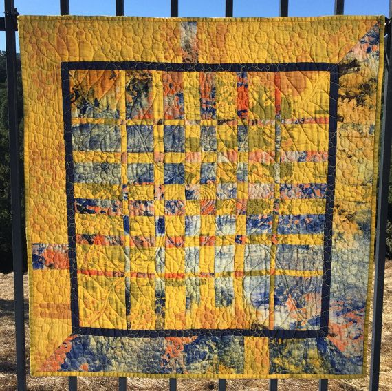 Original design contemporary textile quilted wall art. Modern fabric ...