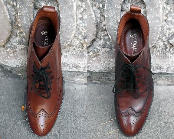 The Suggestion Brown Stafford Boots Black Shoe Creme Black