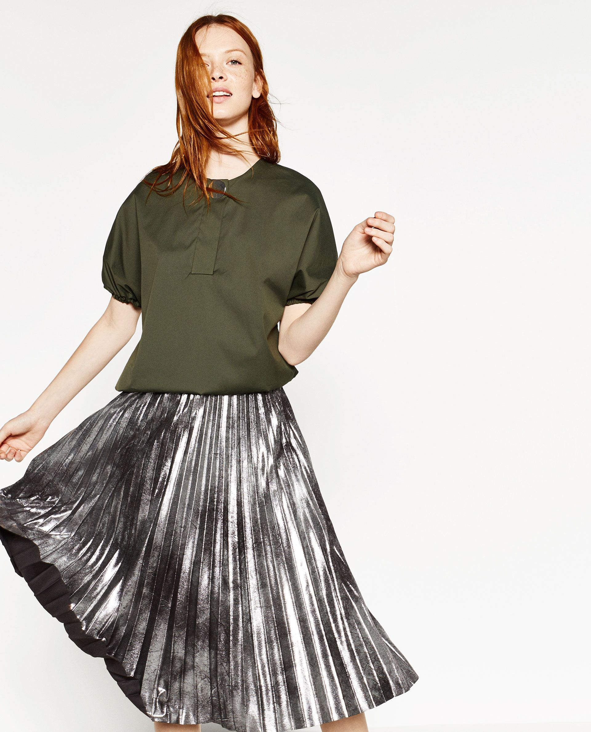 2019 year looks- Black long skirt zara