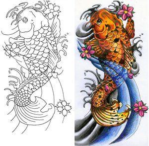 japanese koi fish tattoo