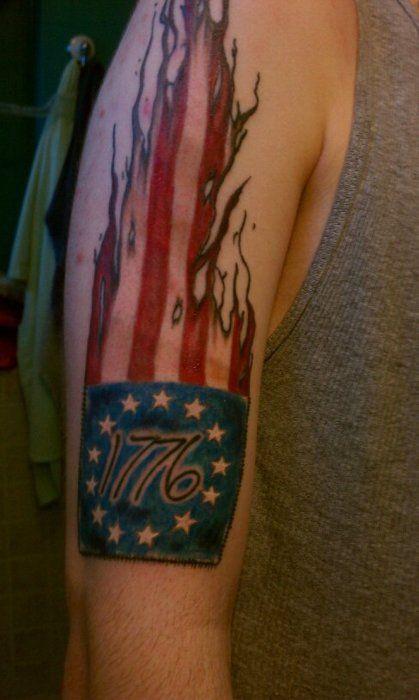 """My """"!776"""" Betsy Ross flag tattoo.   Tattoo Sleeve ..."""