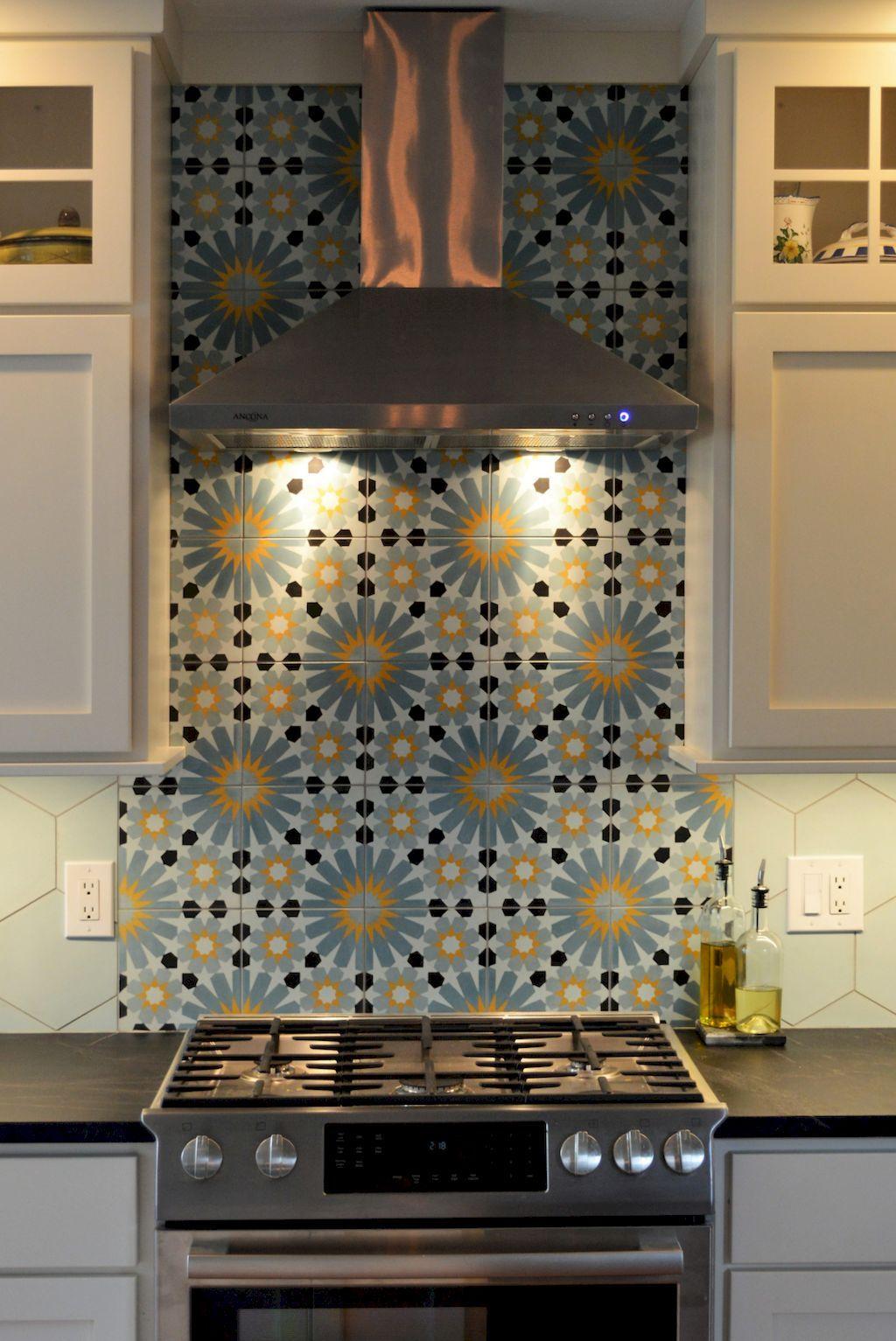 60 Beautiful Kitchen Backsplash Tile Patterns Ideas   Cocina vintage ...