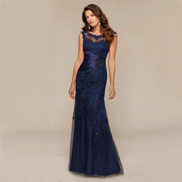 2b081f55a Aliexpress.com  Comprar Con cuentas de Noche Largo Del Cordón 2016 Vestidos  de Fiesta de la boda de Tulle Mujeres Vestidos de Noche Formales Vestidos  De ...