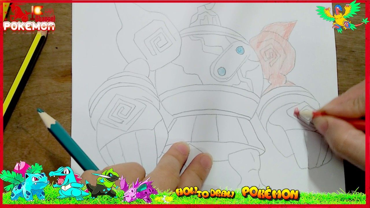 How To Draw Golurk Pokemon Easy For Kids I Will Draw You Find It Funny Pokemondrawings Howtodraw Cartoon Pokemon 4kids How To Draw Golurk Pokemon Easy For