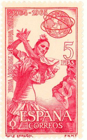how many stamps for a letter 1965 spain flamenco dancer from andalusia postage 1281