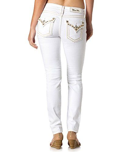 Miss Me Womens Sweet Success Skinny Jeans White 28 * Click image to review more details.