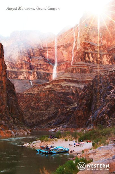 Grand Canyon After August Rainstorms. Thousand Foot