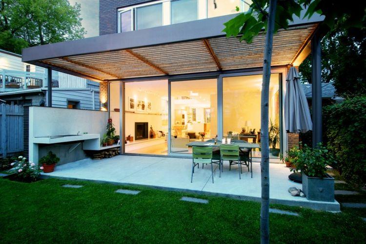Terrasse couverte 30 id es sur l 39 auvent en bois et la - Terrasse et pergola ...