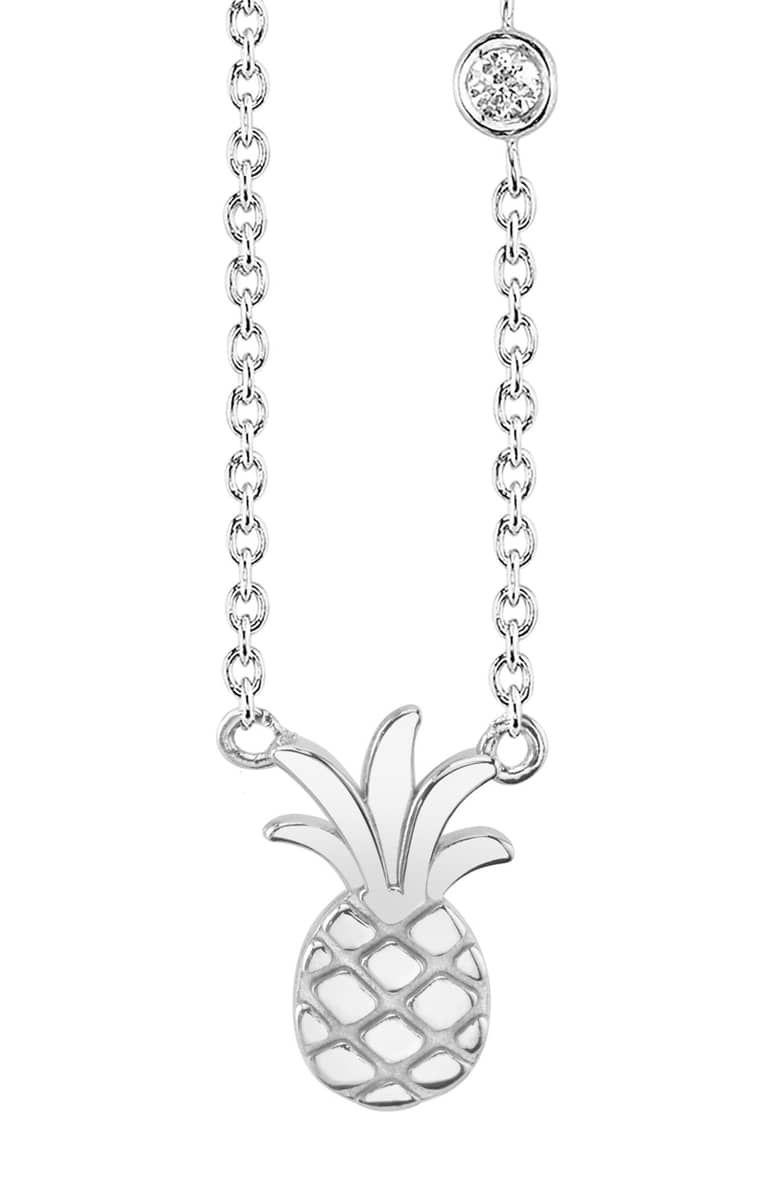 Pineapple Diamond Pendant Necklace cdc2c6f0c3cc