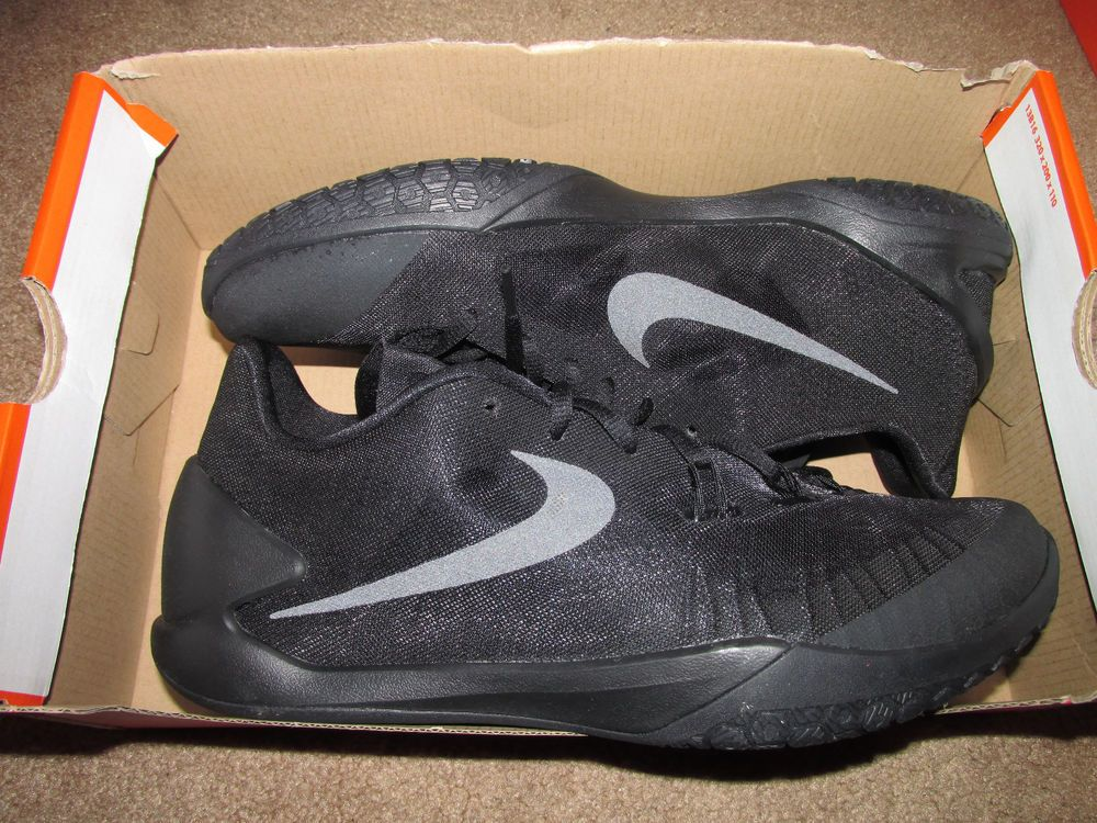 6946f67c9423 Nike Hyperchase Low Mens Basketball Shoes 11 Triple Black 705363 003  Nike   BasketballShoes