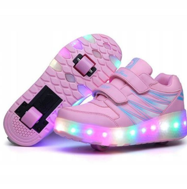 Kup Teraz Na Allegro Pl Za 139 00 Zl Butorolki Led 2 Kolka Rolki Wrotki 5 Wzorow R 38 7887822976 Allegro P Kid Shoes Roller Skate Shoes Kids Sneakers Boys