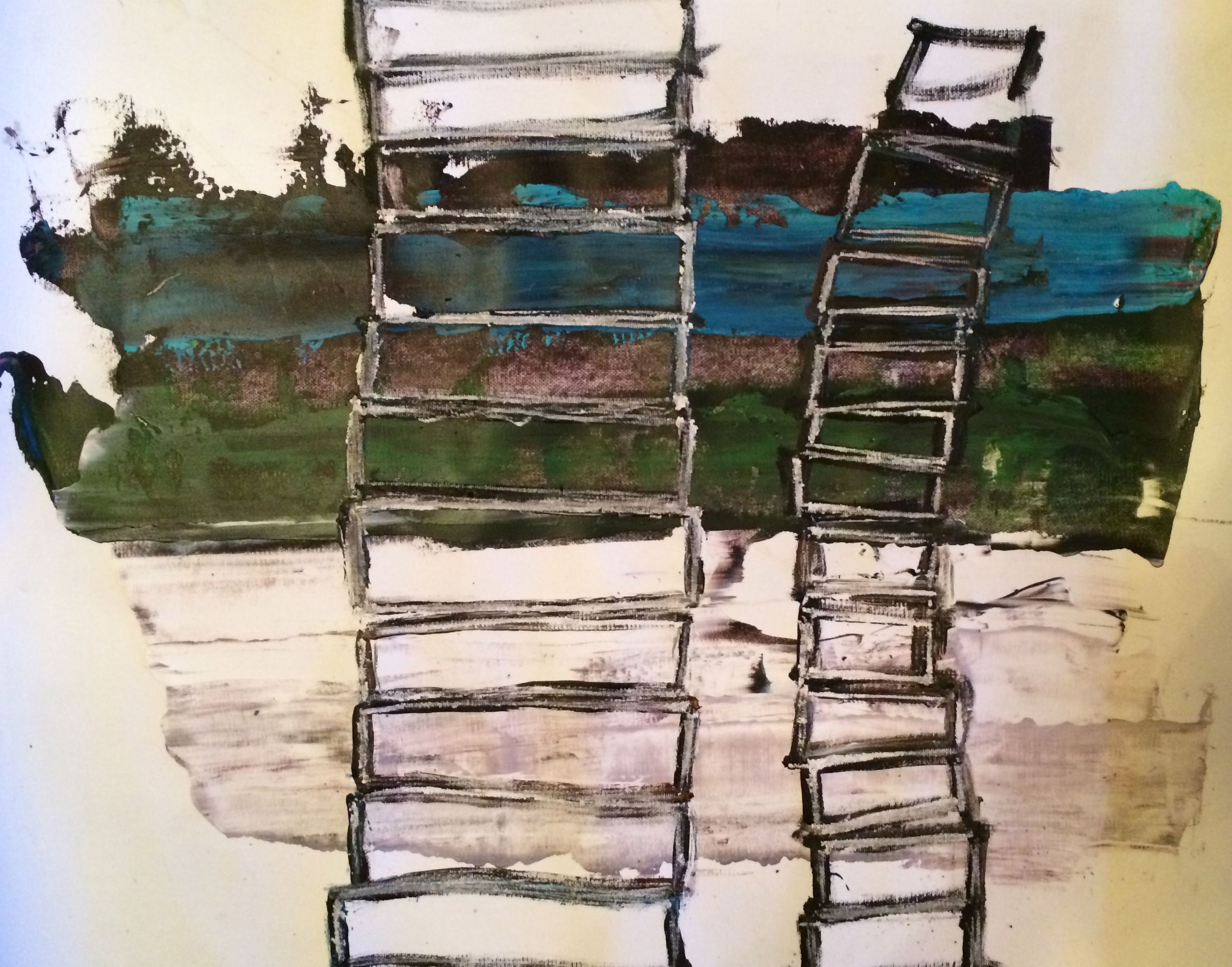 Stigebillede, acryl på lærred, 2014