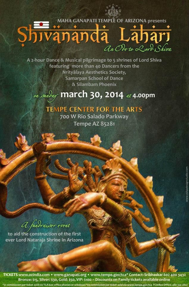Indian Music and Dance program poster design by Ōviya Design Studio