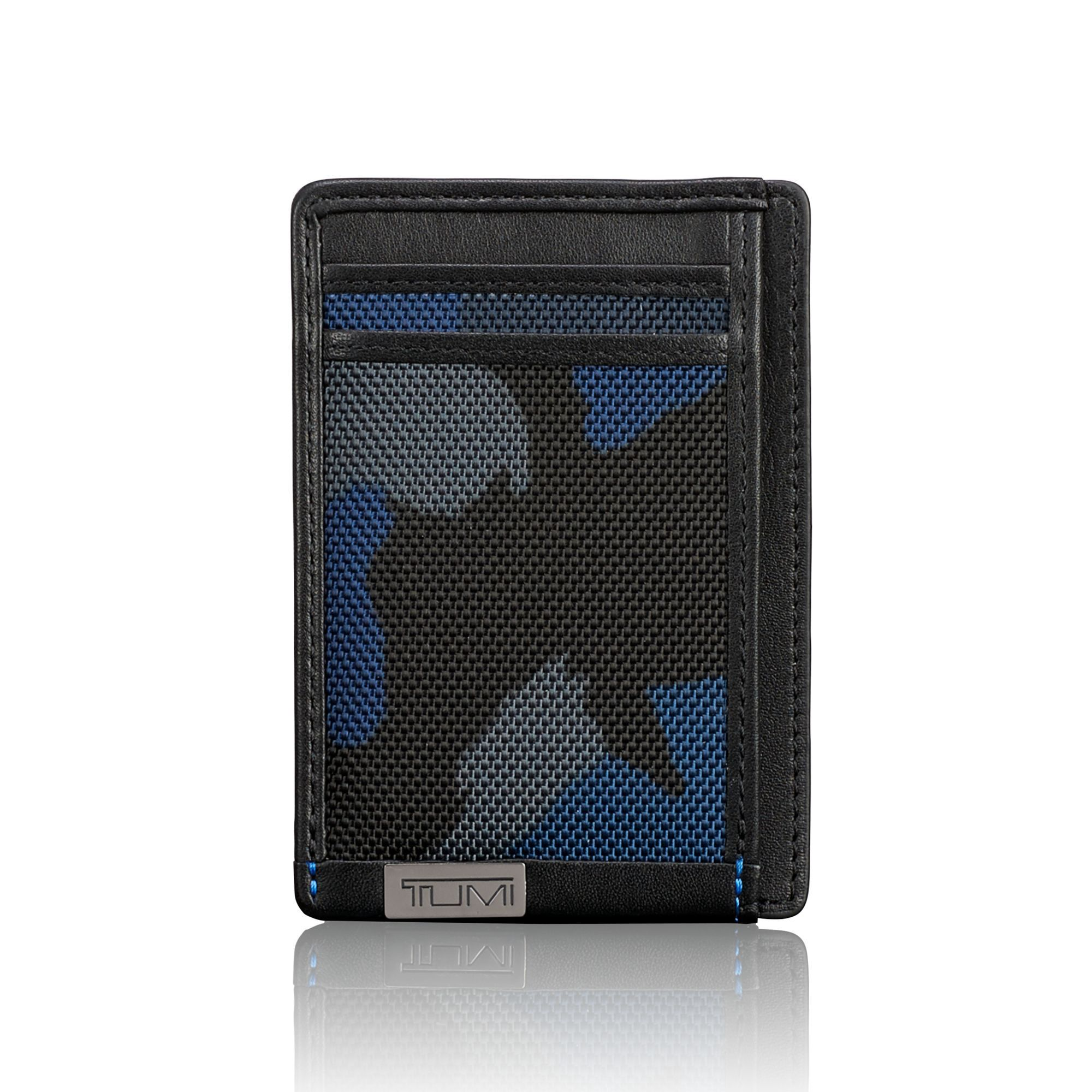 TUMI TUMI ID Lock™ Money Clip Card Case - Blue Camo Ballistic. #tumi ...