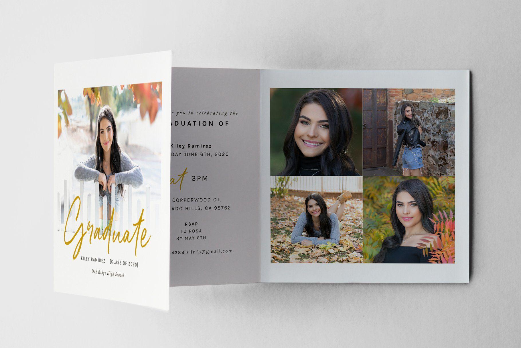 5x5 Folded Graduation Card Psd Senior Graduation Cards Graduation Cards Graduation Announcement Cards