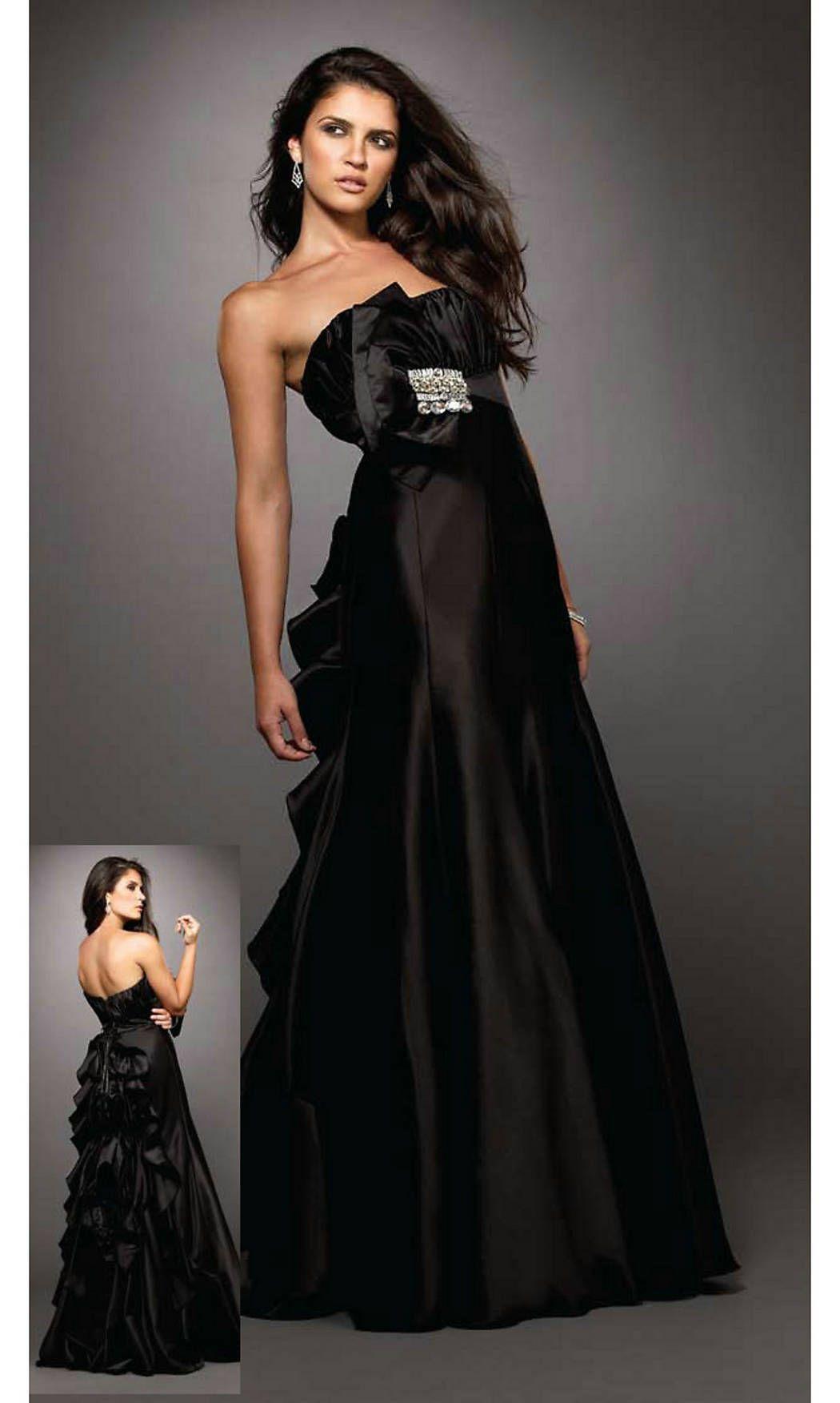 Black Floor Length Prom Dresses