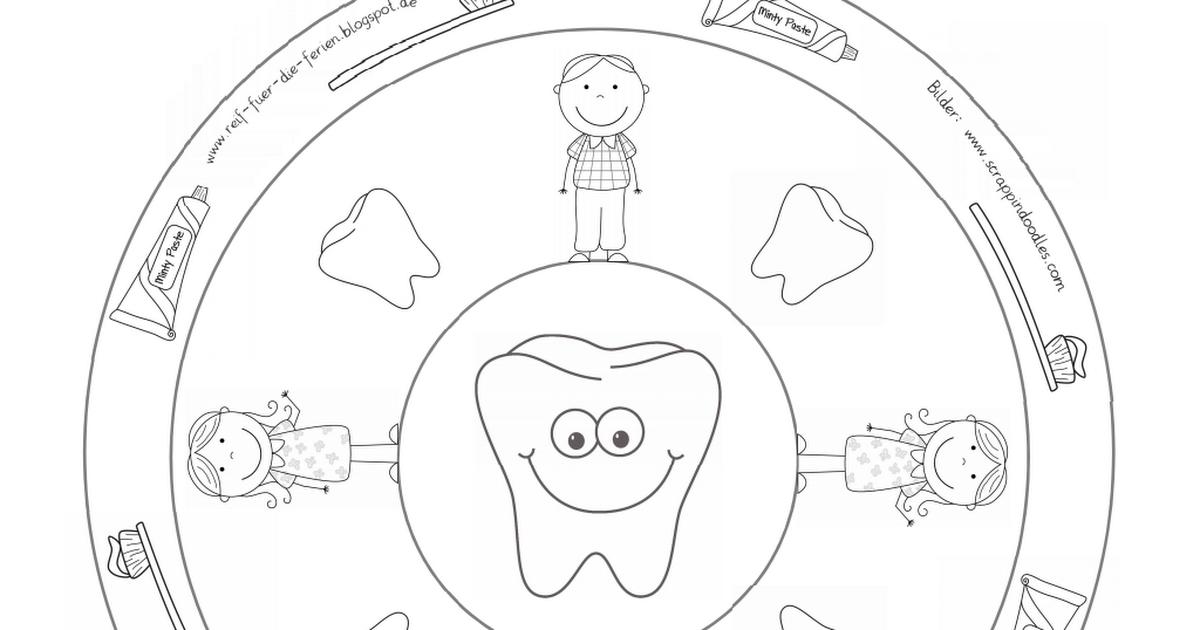 Zähne-Mandalas.pdf | Kids | Pinterest | Zahn, Schule und Vorschule