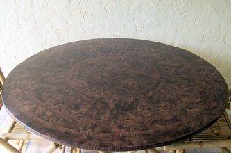 Walnut Fitted Tablecloth With Elastic Fits 36inch To 48inch Round