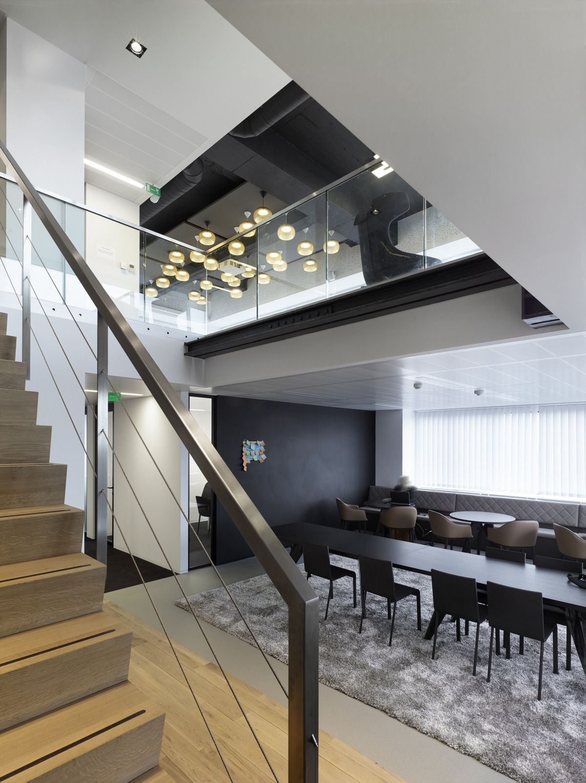Consulting firm office design stair breakout office for Interior design consulting firms