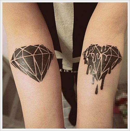 37 Inspirational Diamond Tattoo Designs And Images Diamond Tattoo Designs Black Diamond Tattoos Tattoos