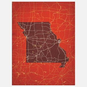 Missouri 12x16 Print now featured on Fab.