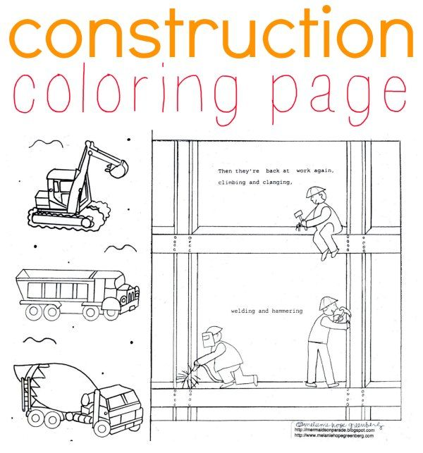 Construction Coloring Page for