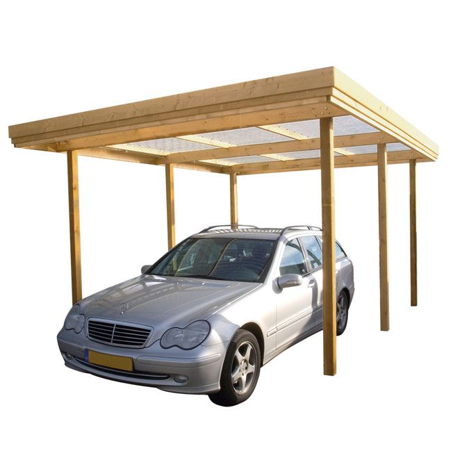 Attached Carport: How To Build A Wooden Carport Off