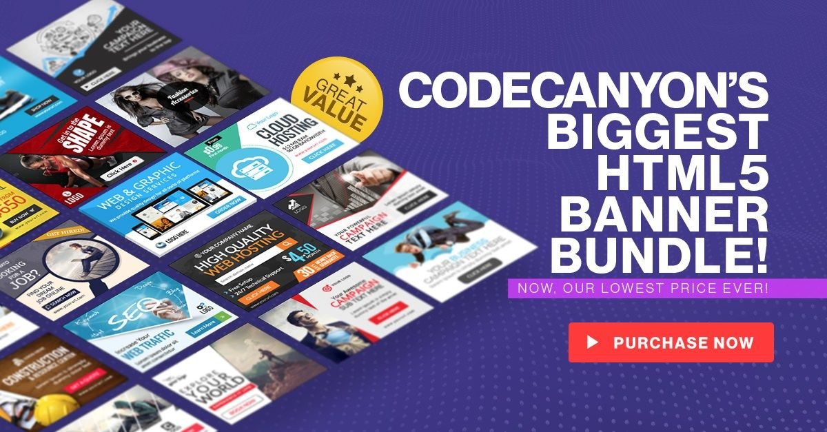 Health & Fitness HTML5 Banners 7 Sizes (Ad Templates
