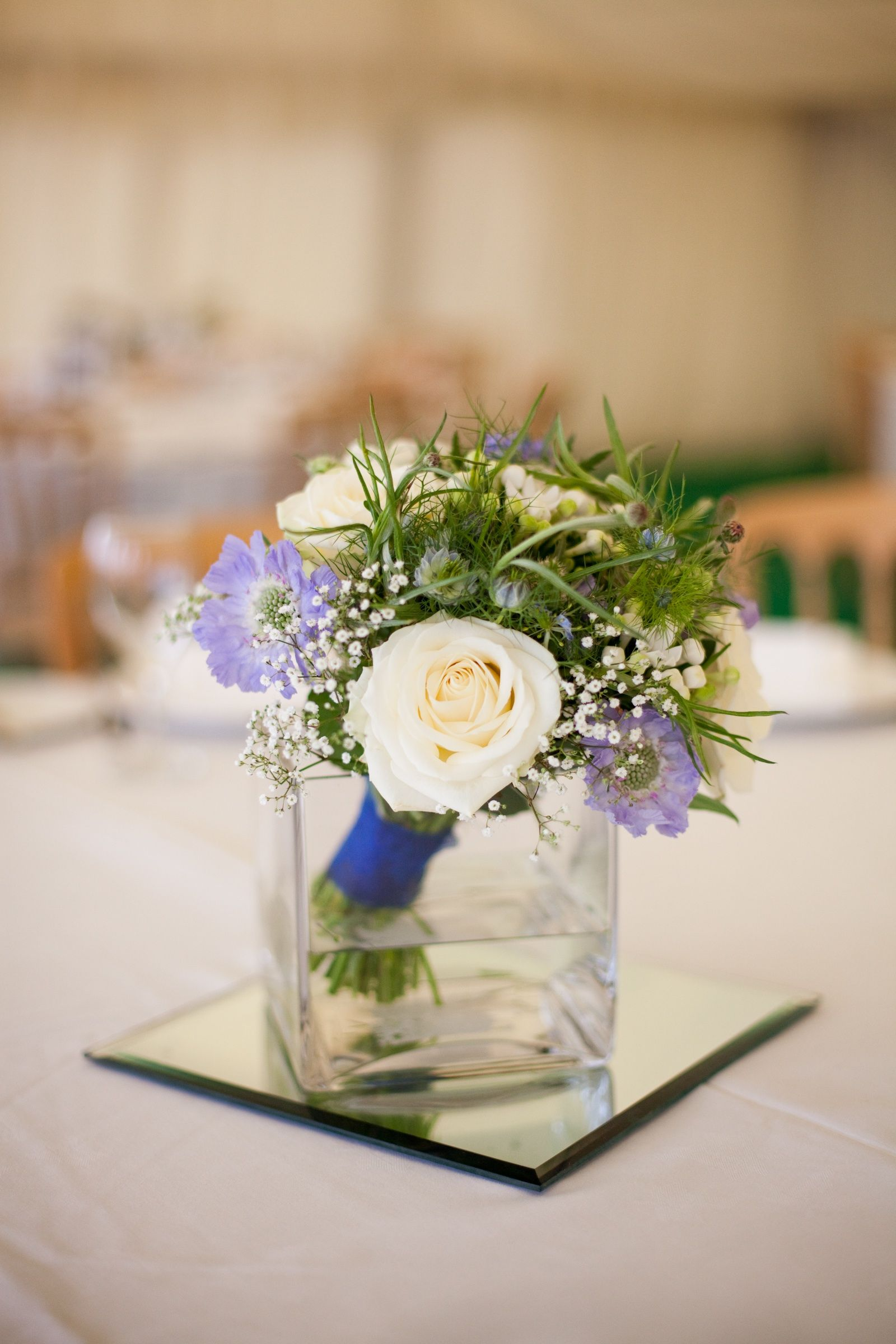 simple flower table arrangements, put your bridesmaids