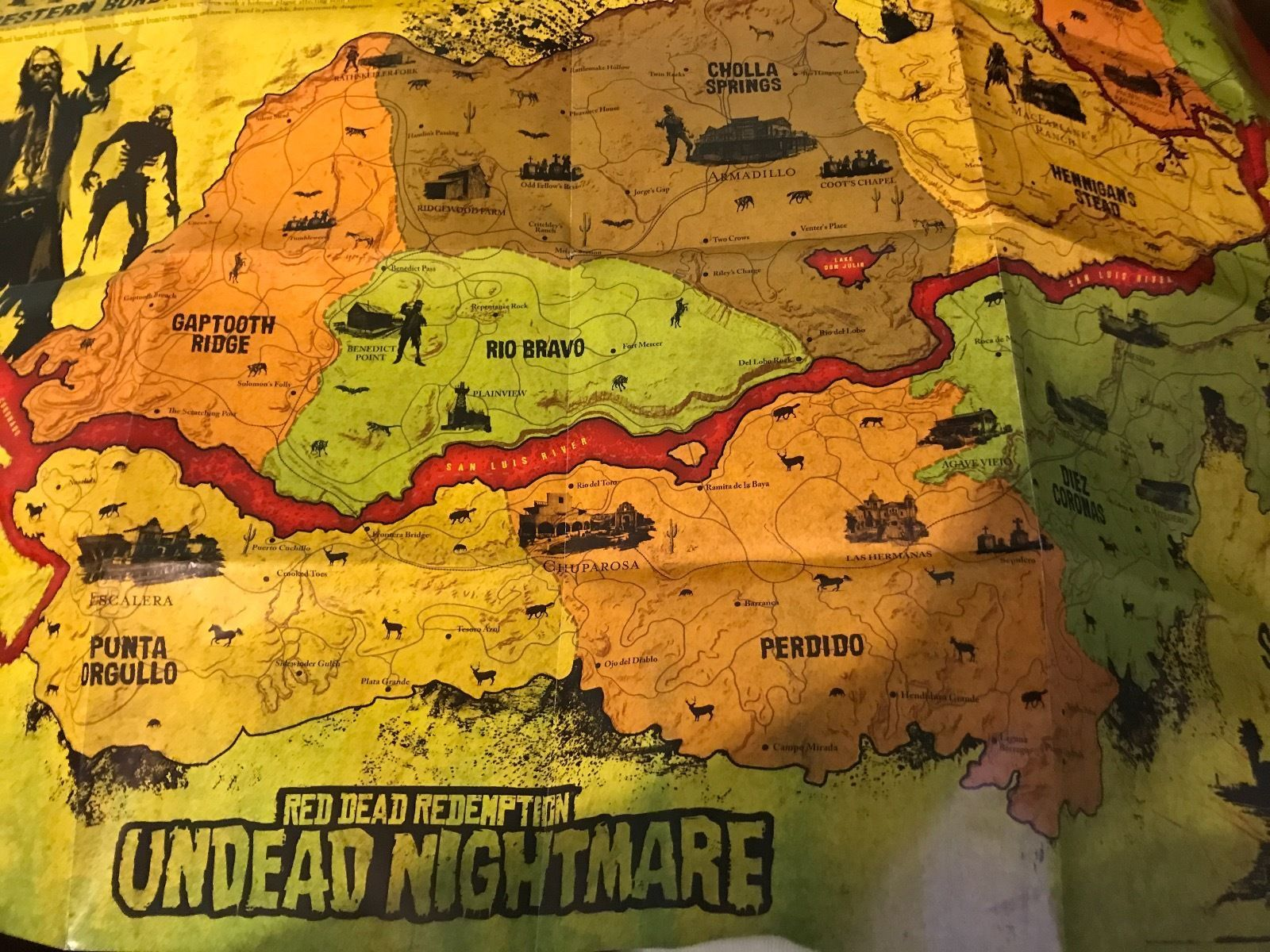 Red dead redemption undead nightmare 2 sided mapposter 1812 game red dead redemption undead nightmare 2 sided mapposter gumiabroncs Gallery