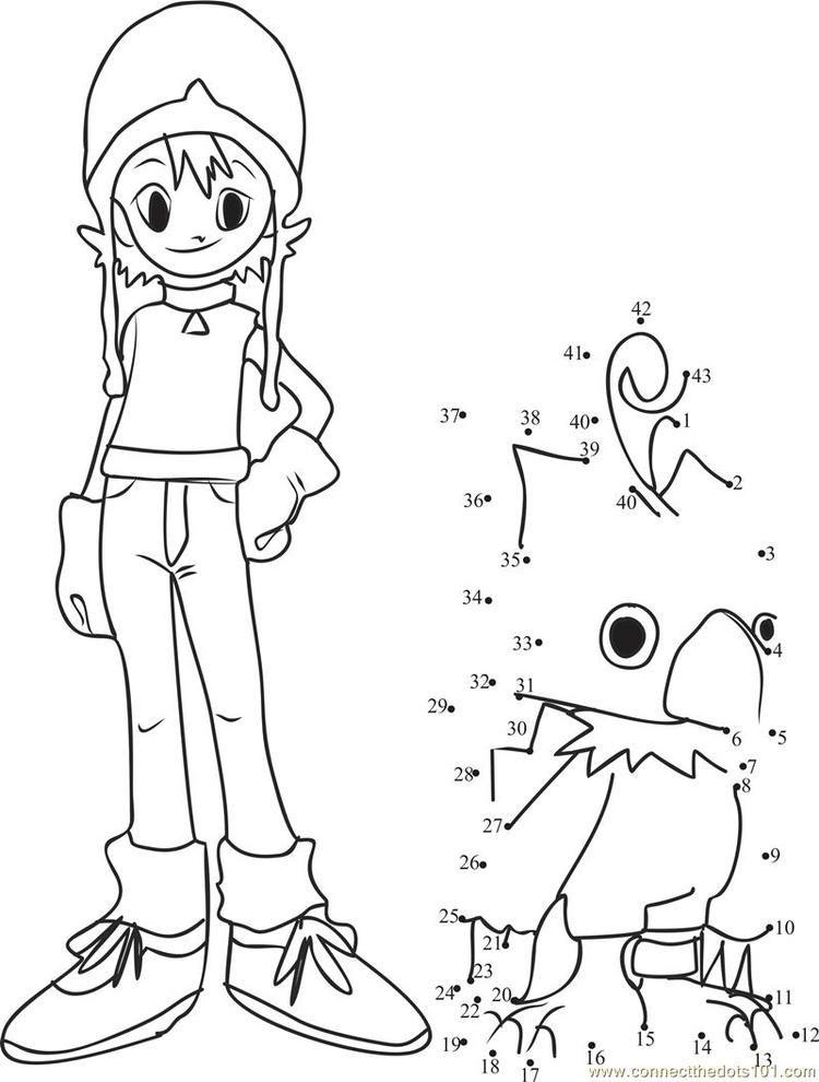 sora takenouchi digimon connect dots