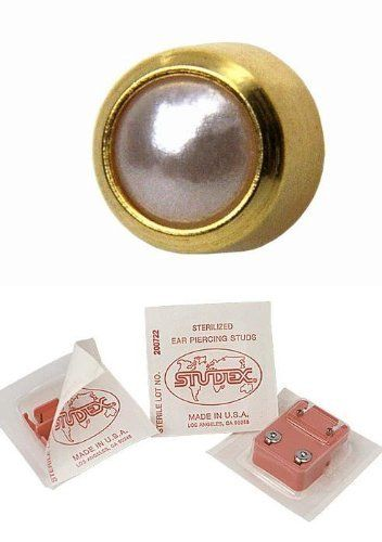 Studex Ear Piercing Gold Plated Pearl Stud Earrings 4mm Bezel Setting 9 49 Ideal For Sensitive Ears Regular