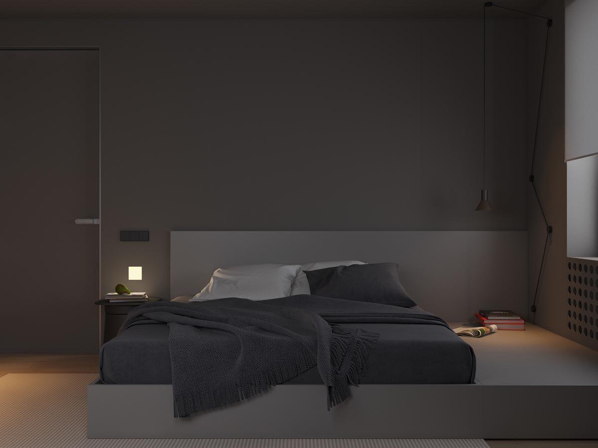 Dark Grey Home Decor With Warm LED Lighting | Дизайн ...