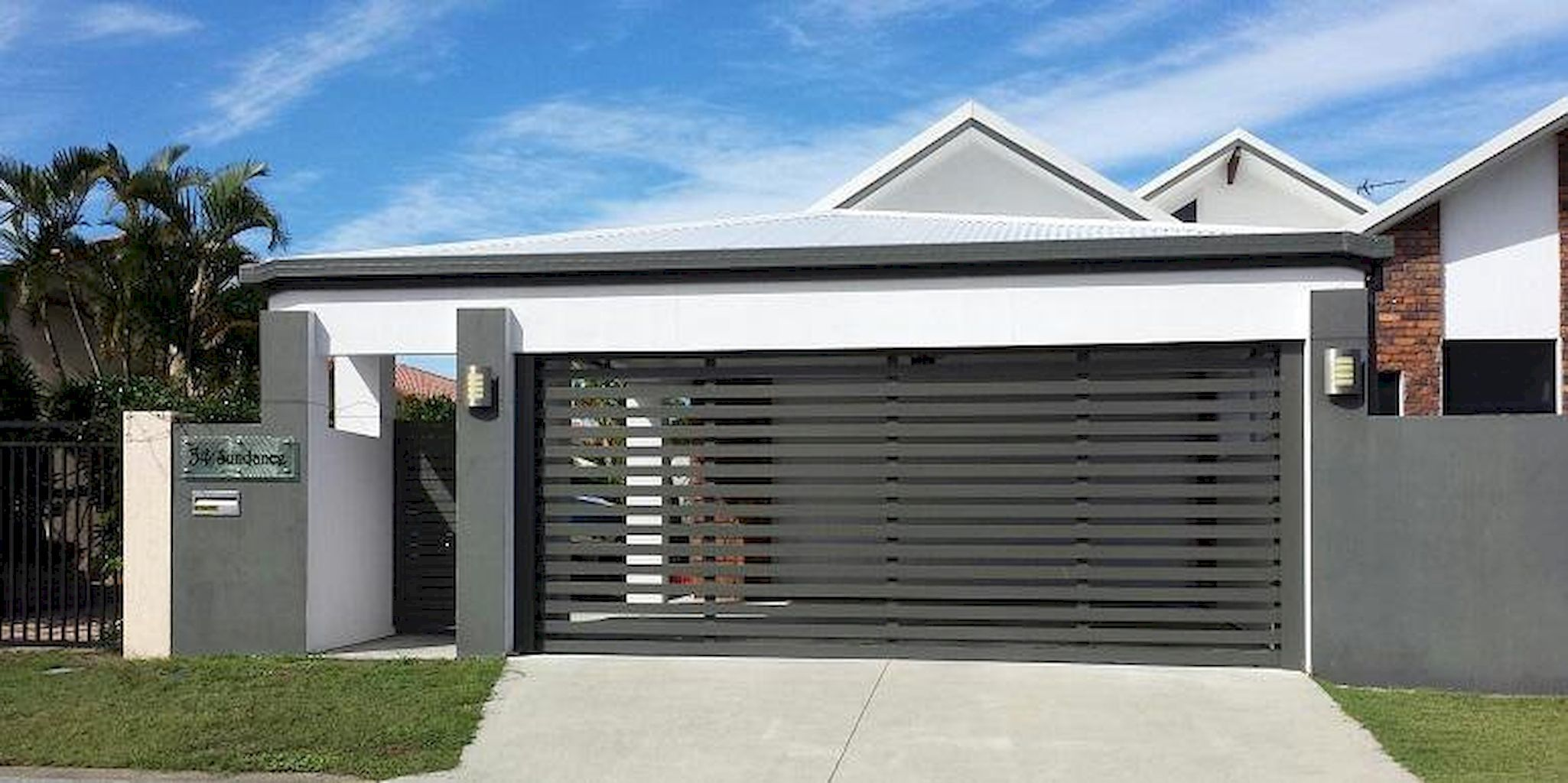 55 adorable modern carports garage designs ideas modern for Carport with attached workshop