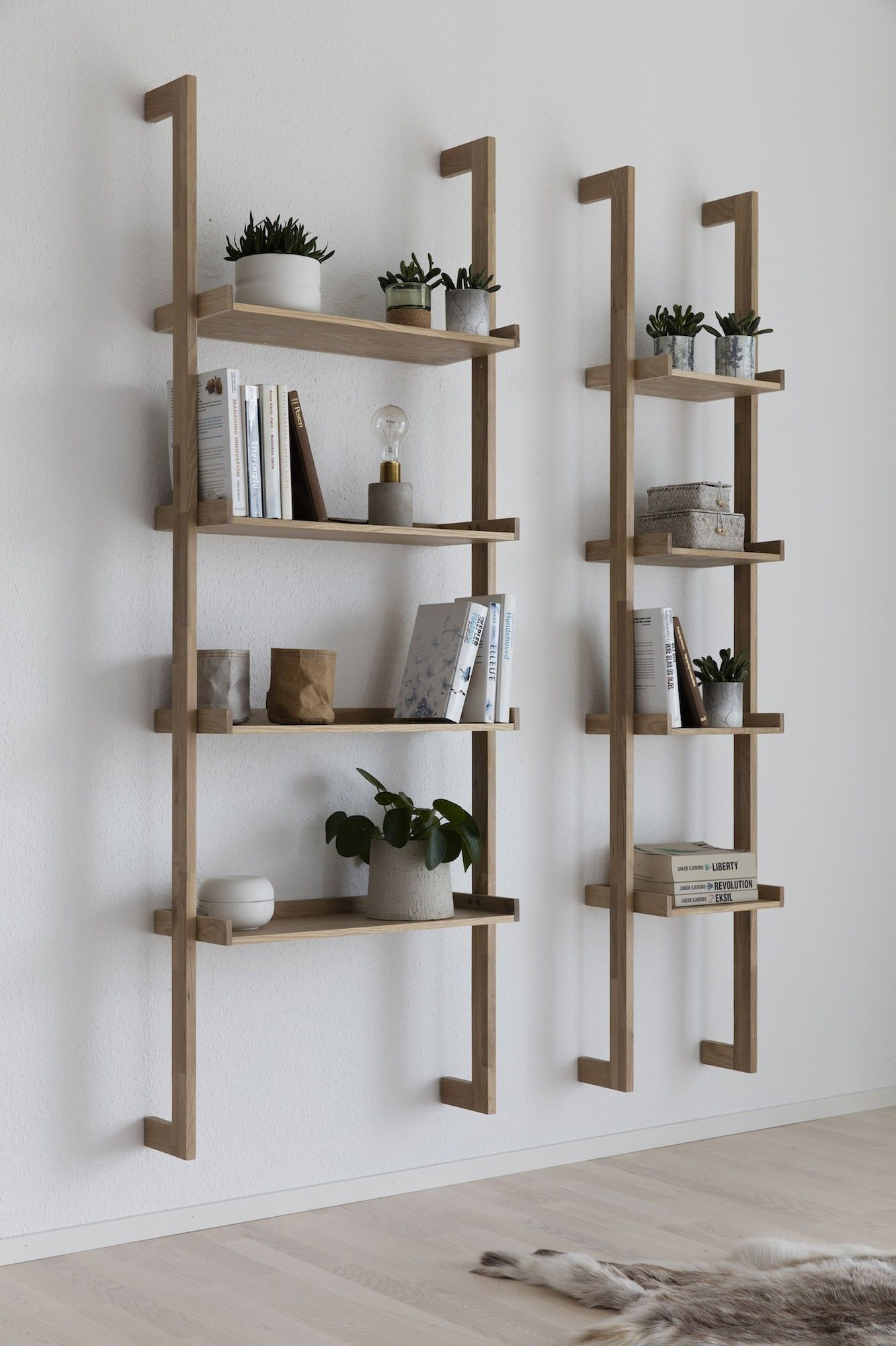 artichok boekenkast ladder sem mounted smal 01