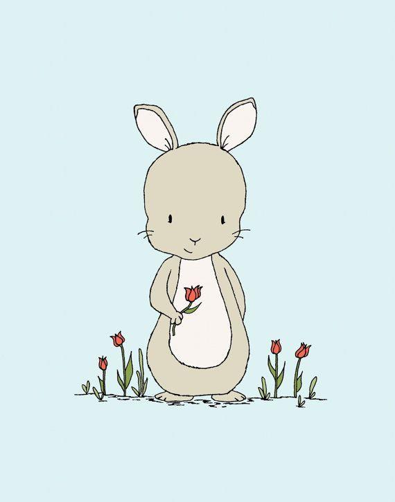 Bilder Fur Kinderzimmer Illustration Tiere Gezeichnete Schablonen Vorlagen Kinderbuch Kinderbilder Susse Kaninchen