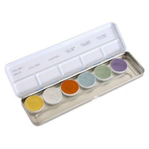 Kryolan Palettes Metallic 6 Colors 1117 By Kryolan 35 60 Each 6 Color Kryolan Aquacolor Metallic Palette Is Good For 100 300 Applications Water Based P