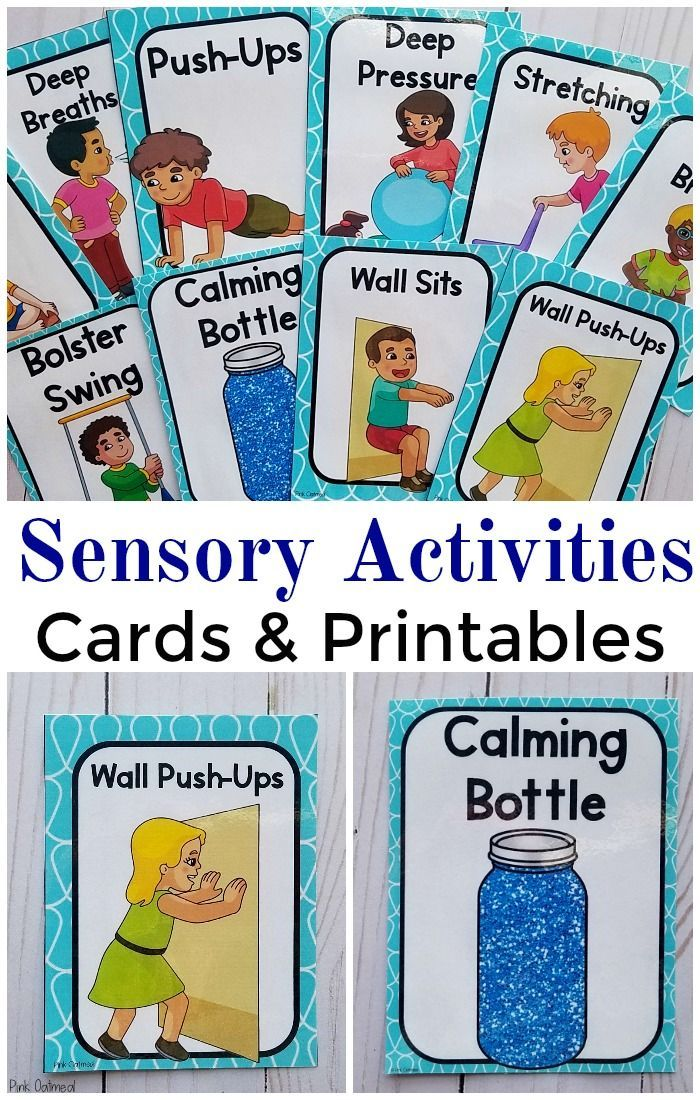 This is a graphic of Agile Sensory Diet Cards Printable
