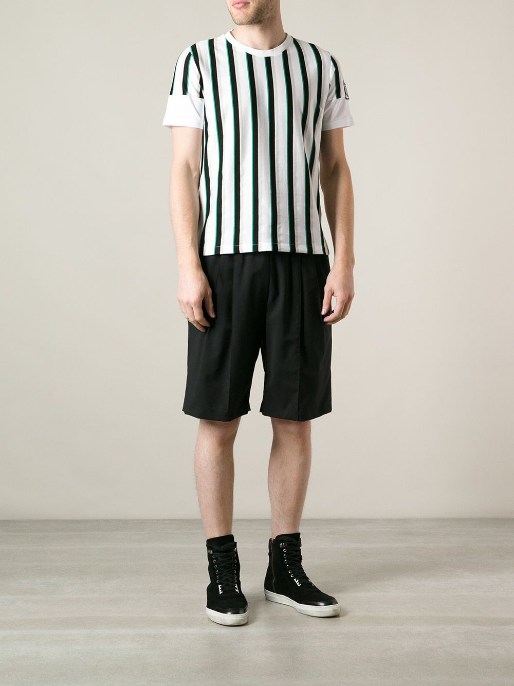 Moncler Gamme Bleu Striped T-shirt - Parisi - Farfetch.com