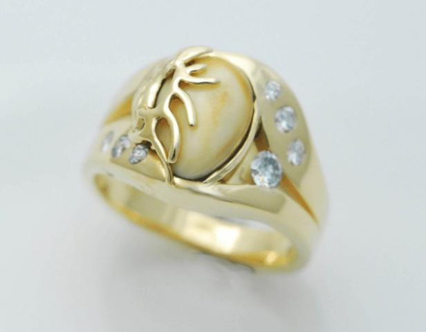 Elk Ivory Wedding Rings